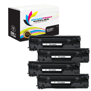 4 Pack HP 83X CF283X Replacement Black High Yield Toner Cartridge by Smart Print Supplies