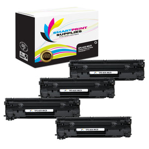 4 Pack HP 83X CF283X Replacement Black High Yield MICR Toner Cartridge by Smart Print Supplies