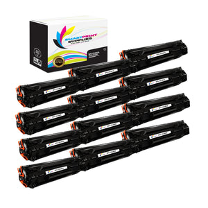 12 Pack HP 85A CE285A Replacement Black Toner Cartridge by Smart Print Supplies