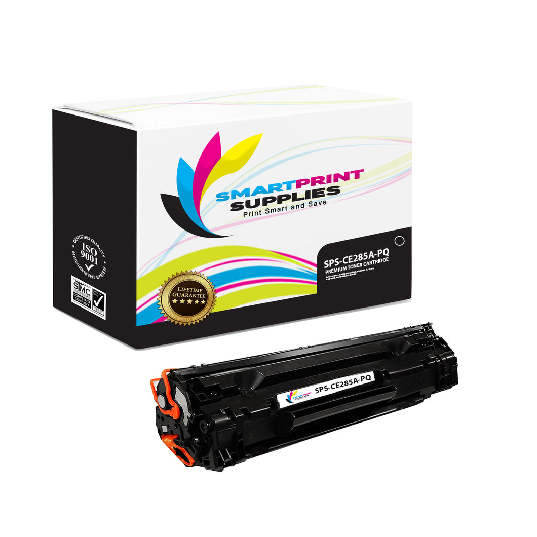 HP 85A CE285A Premium Replacement Black Toner Cartridge by Smart Print Supplies