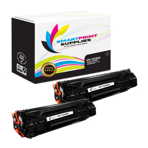 2 Pack HP 85A CE285A Replacement Black Toner Cartridge by Smart Print Supplies