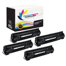4 Pack HP 85A  Replacement MICR Toner Cartridge by Smart Print Supplies