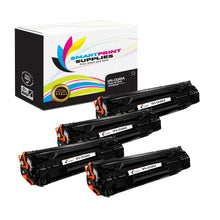 4 Pack HP 85A CE285A Replacement Black Toner Cartridge by Smart Print Supplies