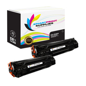 2 Pack HP 85X CE285A Replacement Black High Yield Toner Cartridge by Smart Print Supplies