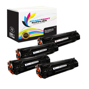 4 Pack HP 85X CE285X Premium Replacement Black High Yield Toner Cartridge by Smart Print Supplies