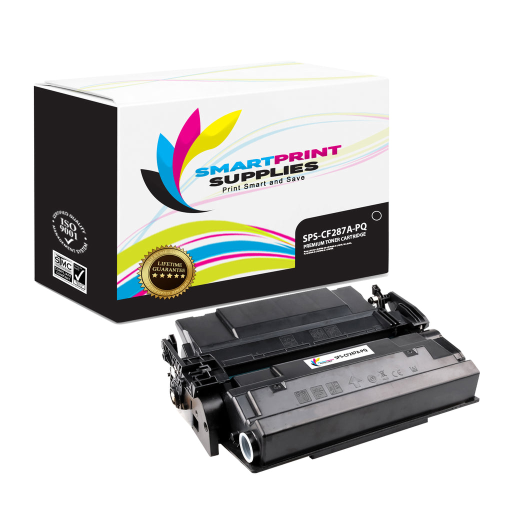 HP 87A CF287A Premium Replacement Black Toner Cartridge by Smart Print Supplies