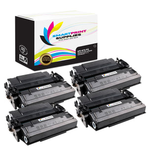 4 Pack HP 87A CF287A Premium Replacement Black Toner Cartridge by Smart Print Supplies