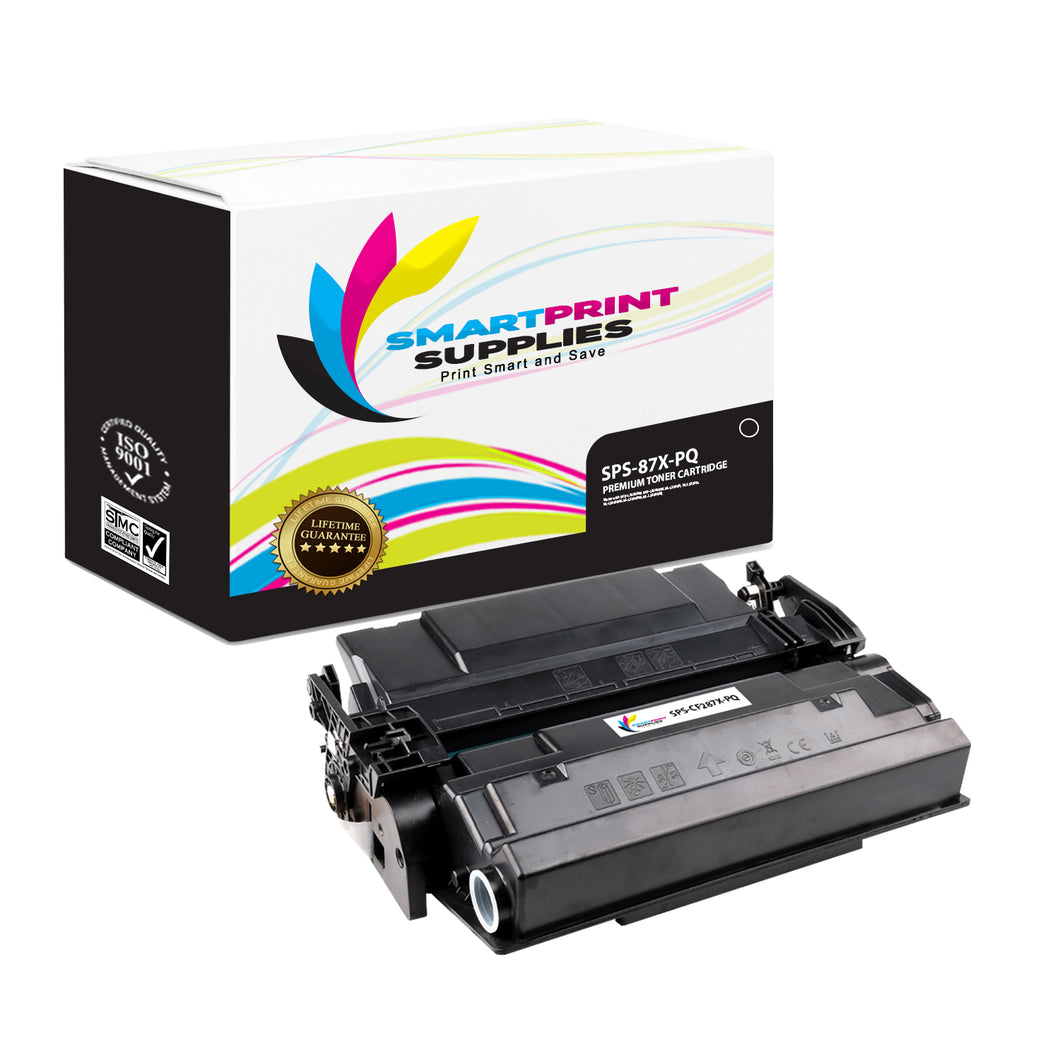 HP 87X CF287X Premium Replacement Black Toner Cartridge by Smart Print Supplies