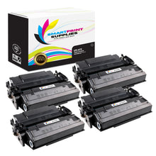 4 Pack HP 87X CF287X Replacement Black Toner Cartridge by Smart Print Supplies