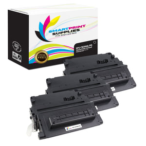 3 Pack HP 90A CE390A Premium Replacement Black Toner Cartridge by Smart Print Supplies