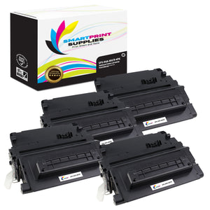 4 Pack HP 90A CE390A Replacement Black MICR Toner Cartridge by Smart Print Supplies