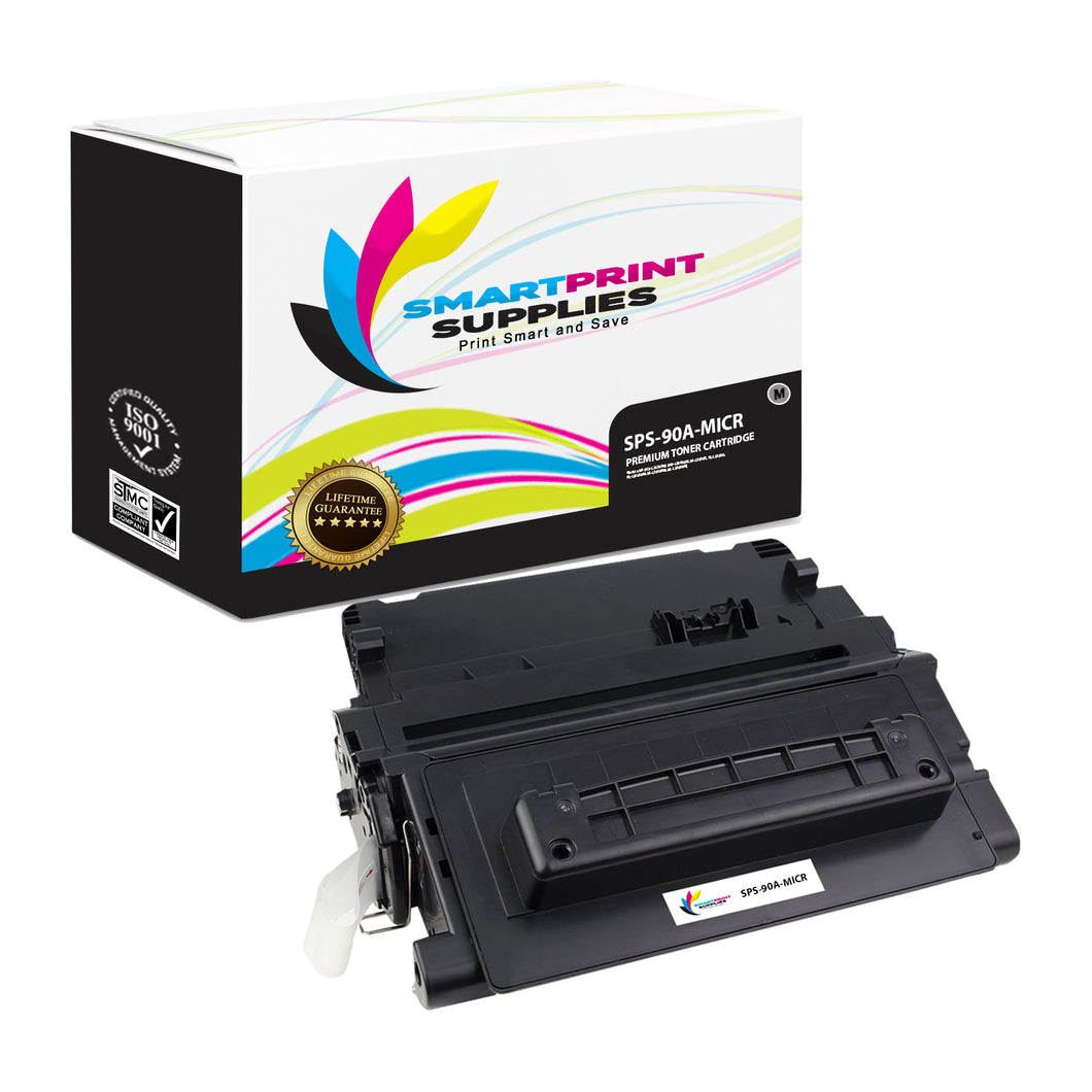 HP 90A CE390A Replacement Black MICR Toner Cartridge by Smart Print Supplies