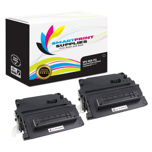 2 Pack HP 90X CE390X Premium Replacement Black Toner Cartridge by Smart Print Supplies