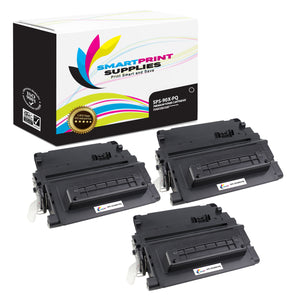 3 Pack HP 90X CE390X Premium Replacement Black Toner Cartridge by Smart Print Supplies