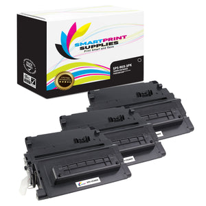 3 Pack HP 90X CE390X Replacement Black Toner Cartridge by Smart Print Supplies