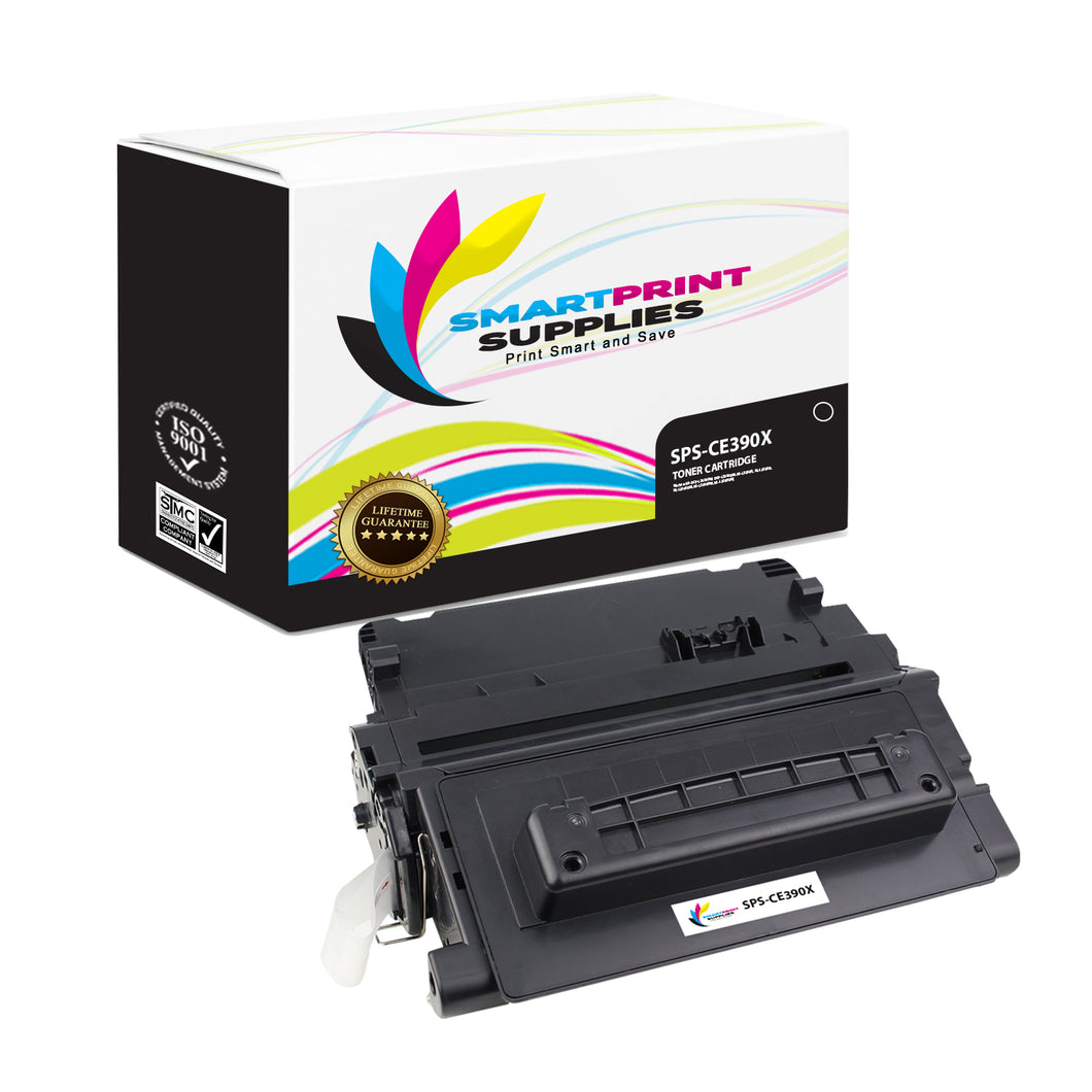 HP 90X CE390X Replacement Black Toner Cartridge by Smart Print Supplies