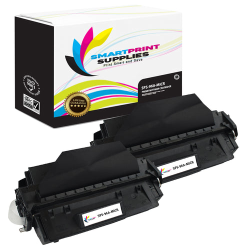 2 Pack HP 96A C4096A Replacement Black MICR Toner Cartridge by Smart Print Supplies