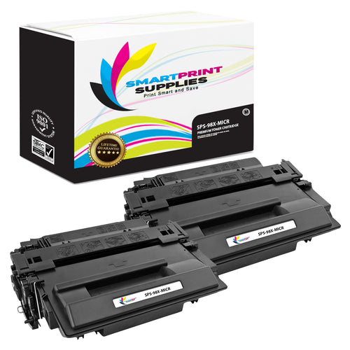 2 Pack HP 98X 92298X Replacement Black High Yield MICR Toner Cartridge by Smart Print Supplies