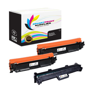 3 Pack HP 17A - 19A Replacement Black Combo Pack by Smart Print Supplies