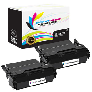 2 Pack IBM IBM1832 MICR Replacement Black Toner Cartridge by Smart Print Supplies /25000 Pages