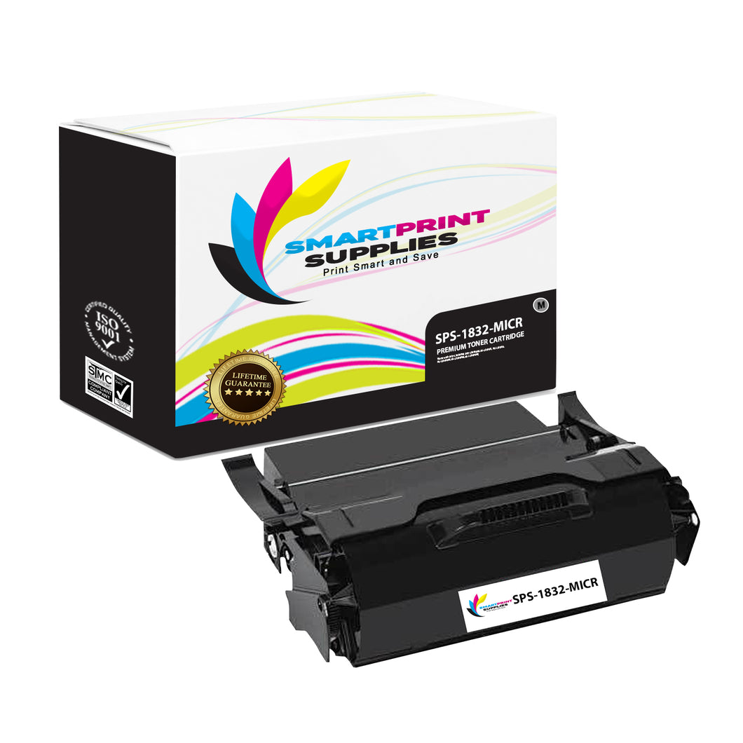 1 Pack IBM IBM1832 MICR Replacement Black Toner Cartridge by Smart Print Supplies /25000 Pages