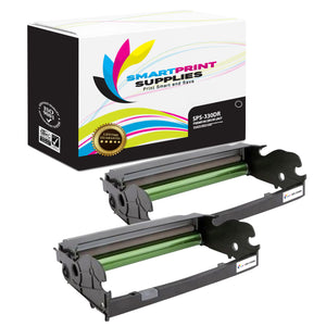 2 Pack Lexmark X203 / E240 / E330 Replacement Black Drum Unit by Smart Print Supplies