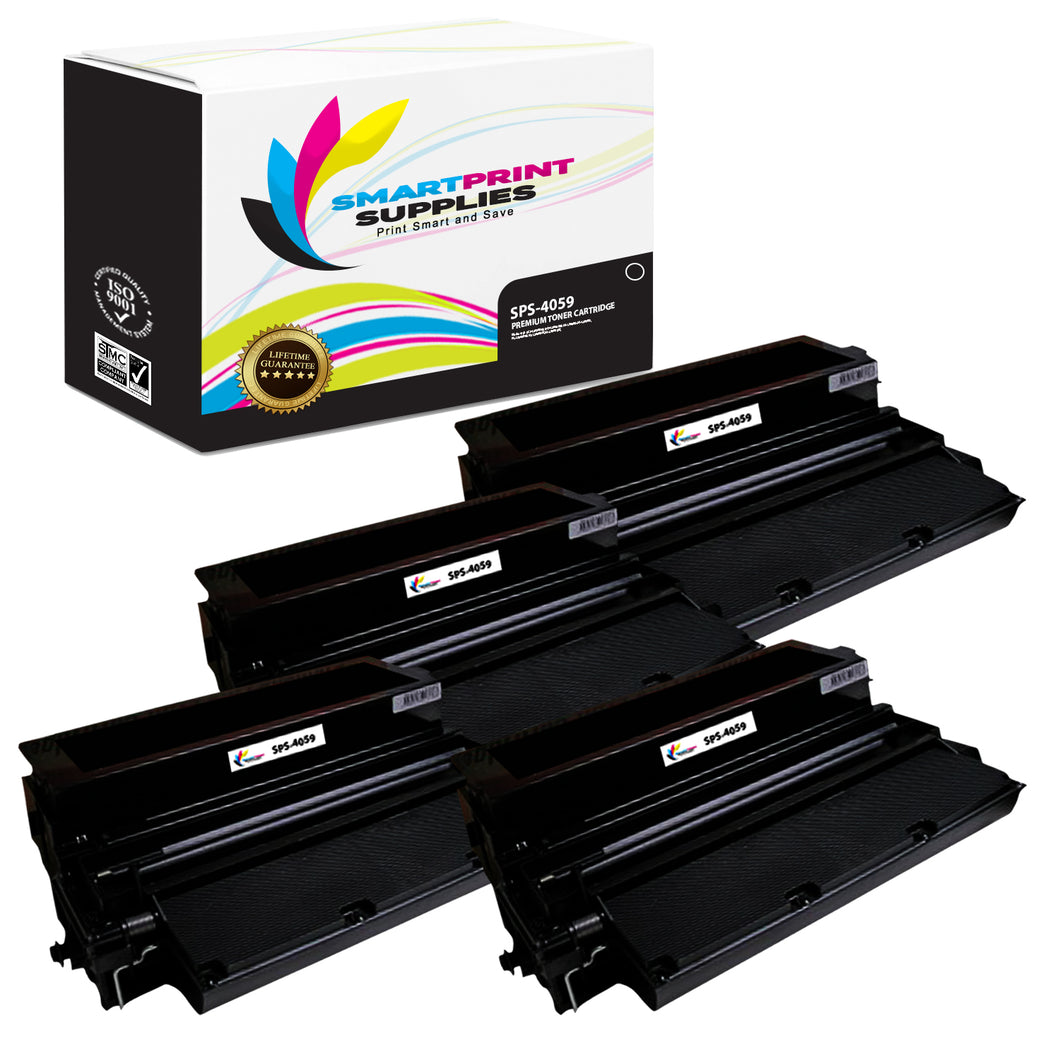 4 Pack Lexmark 4059 Replacement Black Toner Cartridge by Smart Print Supplies