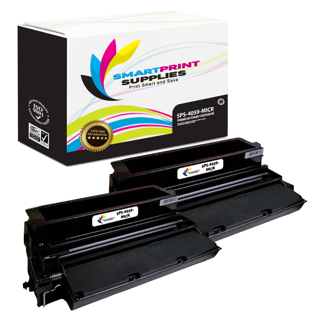 2 Pack Lexmark 4059 Replacement Black MICR Toner Cartridge by Smart Print Supplies