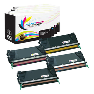 4 Pack Lexmark C534 Replacement (CMYK) Toner Cartridge by Smart Print Supplies