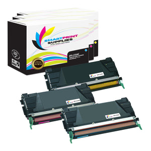 3 Pack Lexmark C534 Replacement (CMY) Toner Cartridge by Smart Print Supplies