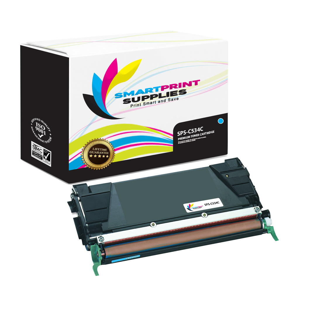 Lexmark C534 Replacement Cyan Toner Cartridge by Smart Print Supplies
