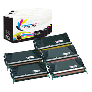 5 Pack Lexmark C534H Replacement (CMYK) Toner Cartridge by Smart Print Supplies
