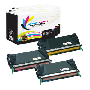 Lexmark C534H Replacement 3 Colors Toner Cartridge by Smart Print Supplies /5000 Pages