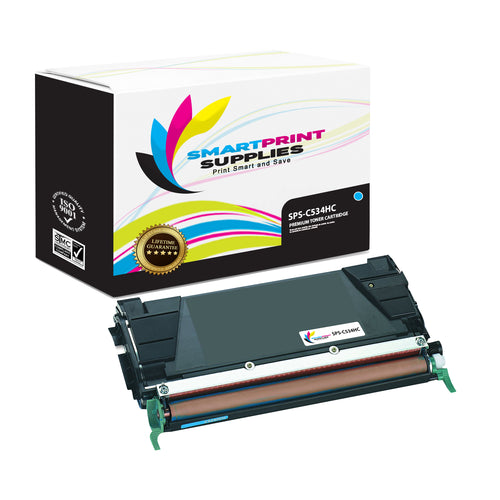 Lexmark C534HC Replacement Cyan Toner Cartridge by Smart Print Supplies