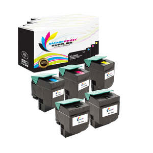 5 Pack Lexmark C540 Replacement (CMYK) Toner Cartridge by Smart Print Supplies
