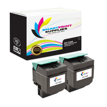 2 Pack Lexmark C540 Replacement Black Toner Cartridge by Smart Print Supplies