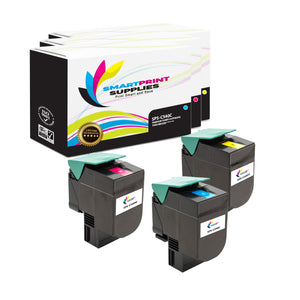3 Pack Lexmark C540 Replacement (CMY) Toner Cartridge by Smart Print Supplies