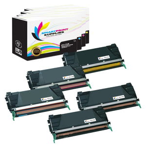 5 Pack Lexmark C734 Replacement (CMYK) Toner Cartridge by Smart Print Supplies