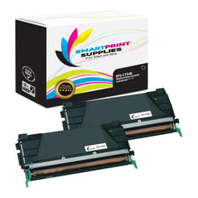 2 Pack Lexmark C734 Replacement Black Toner Cartridge by Smart Print Supplies
