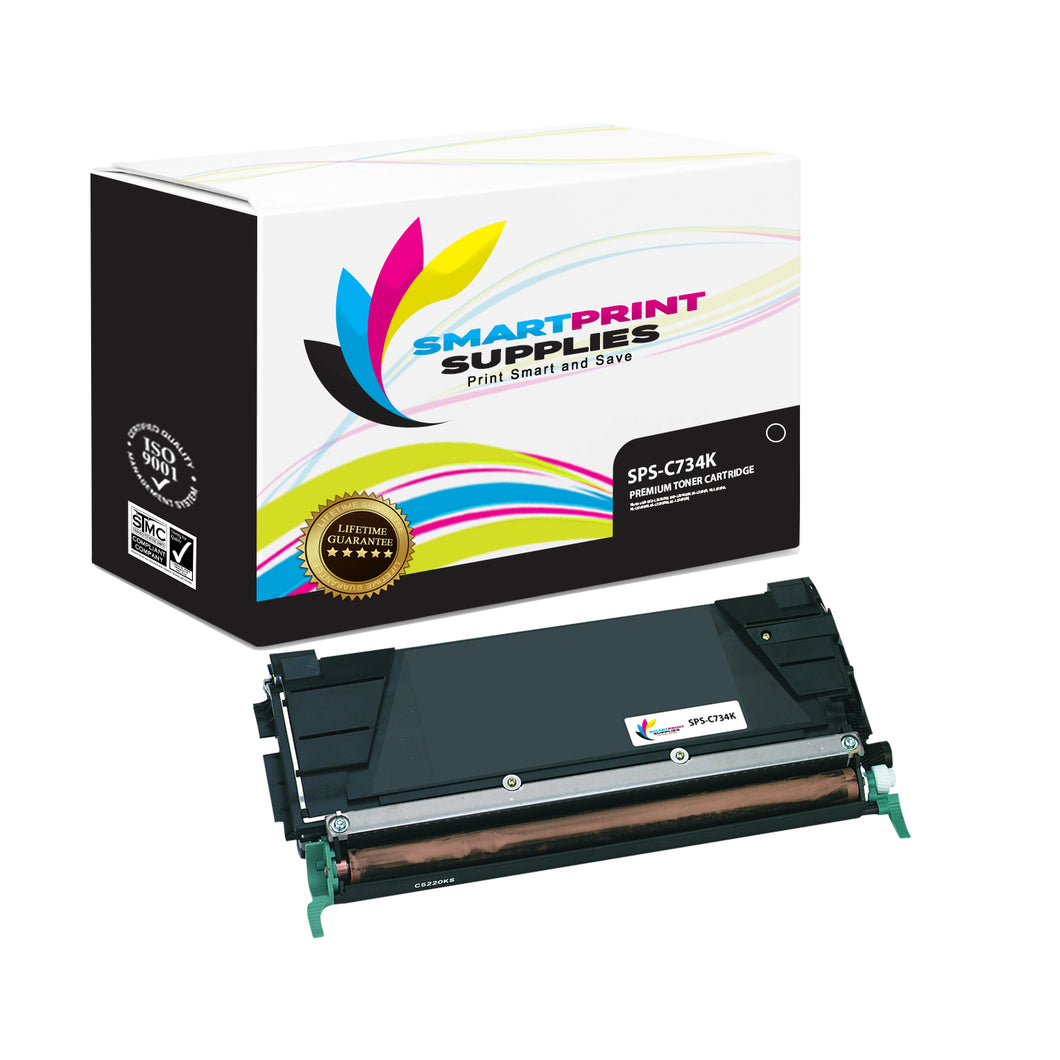 Lexmark C734 Replacement Black Toner Cartridge by Smart Print Supplies