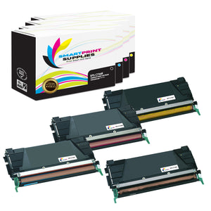 4 Pack Lexmark C736 Replacement (CMYK) Toner Cartridge by Smart Print Supplies