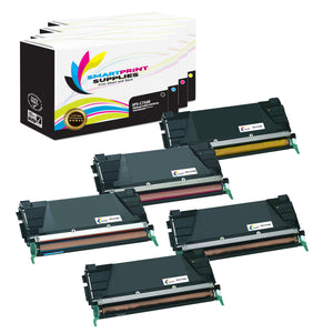 5 Pack Lexmark C736 Replacement (CMYK) Toner Cartridge by Smart Print Supplies