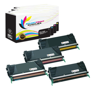 4 Pack Lexmark C746 Replacement (CMYK) Toner Cartridge by Smart Print Supplies