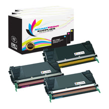 3 Pack Lexmark C746 Replacement (CMY) Toner Cartridge by Smart Print Supplies