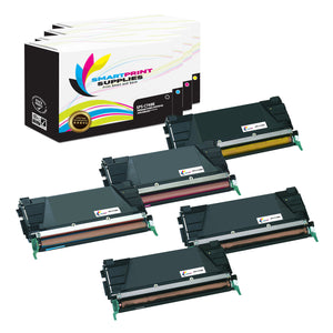 5 Pack Lexmark C748 Replacement (CMYK) Toner Cartridge by Smart Print Supplies