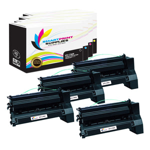 4 Pack Lexmark C780 Replacement (CMYK) Toner Cartridge by Smart Print Supplies