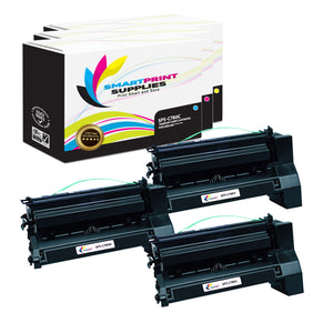 3 Pack Lexmark C780 Replacement (CMY) Toner Cartridge by Smart Print Supplies