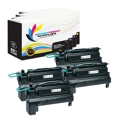 Lexmark C792 Replacement 4 Colors Toner Cartridge by Smart Print Supplies /6000 per black cartridge, and 6000 per color cartridge Pages