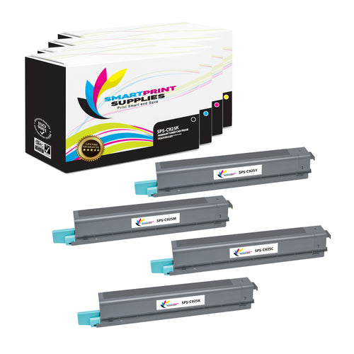4 Pack Lexmark C925 Replacement (CMYK) Toner Cartridge by Smart Print Supplies