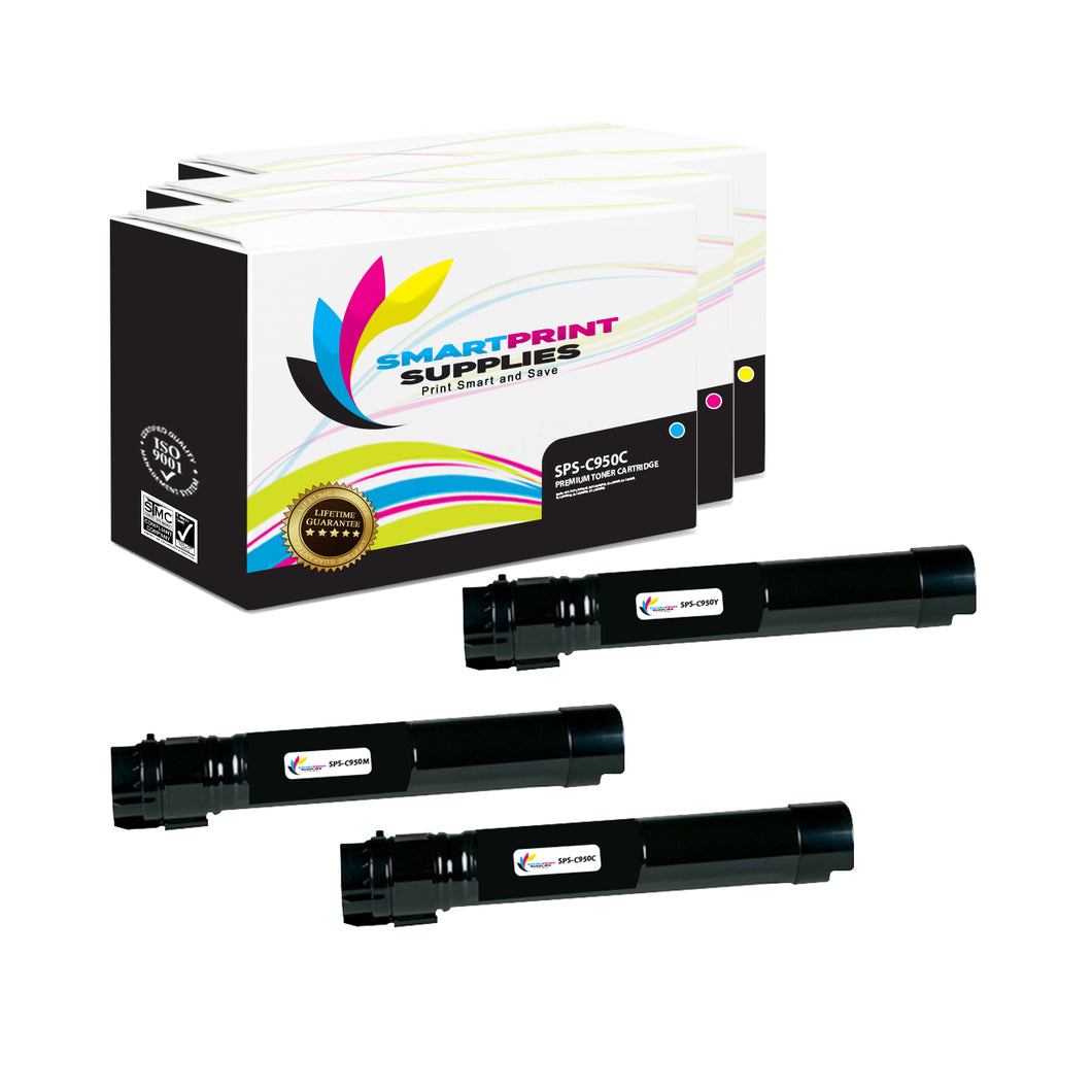 3 Pack Lexmark C950 Replacement (CMY) Toner Cartridge by Smart Print Supplies